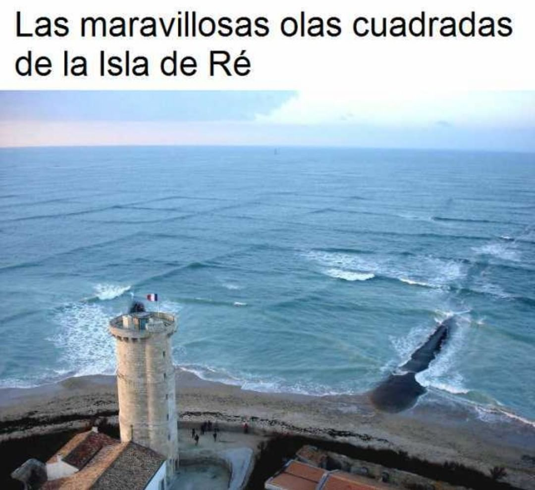 Las maravillosas olas cuadradas de la Isla de Ré.