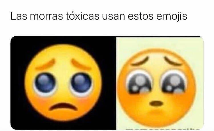 Las morras tóxicas usan estos emojis.