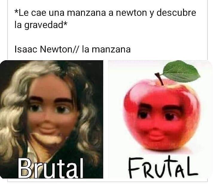 *Le cae una manzana a newton y descubre la gravedad*  Isaac Newton // La manzana.  Brutal / Frutal.
