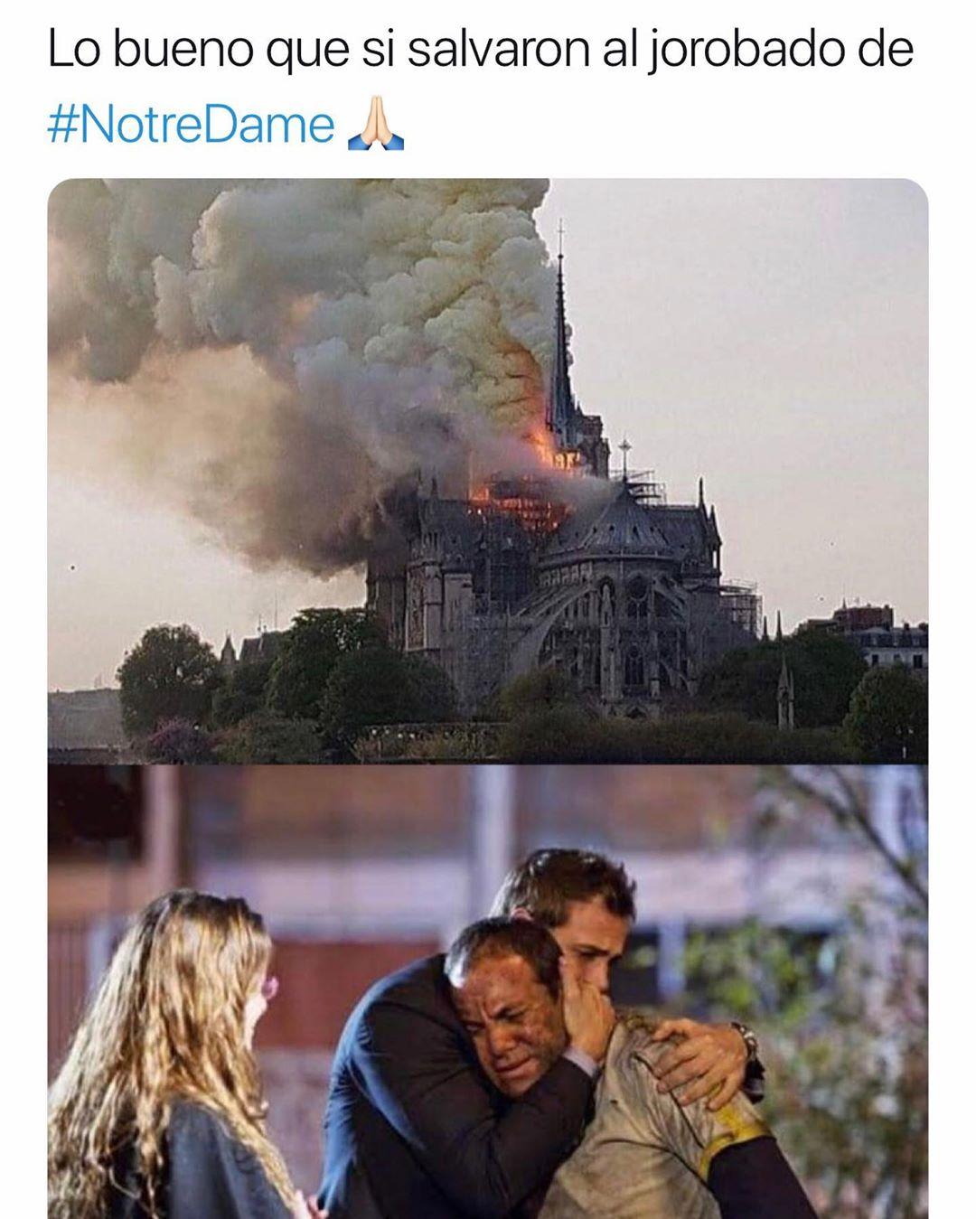 Lo bueno que si salvaron al jorobado de #NotreDame.