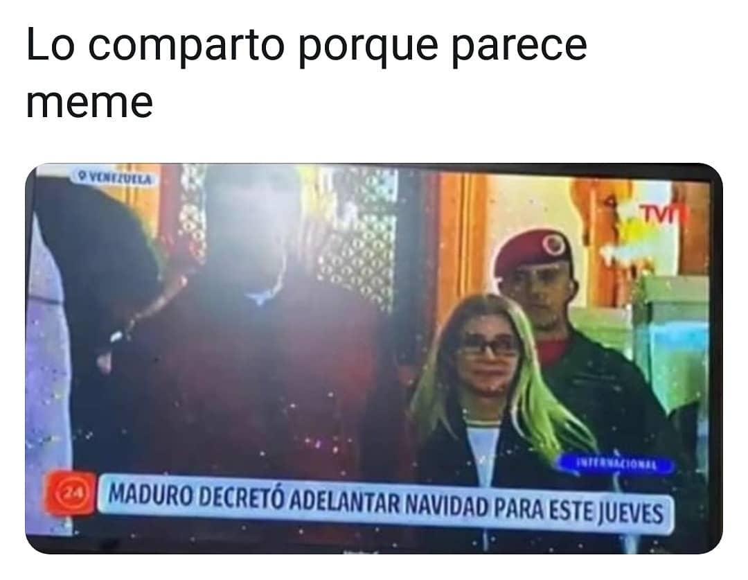 Lo comparto porque parece meme.  Maduro decretó adelantar Navidad para este jueves.