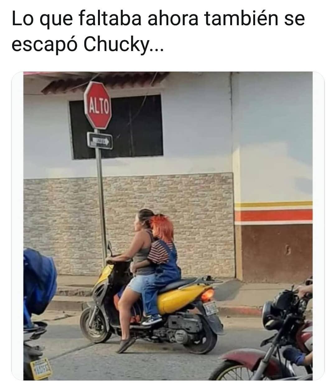 Lo que faltaba, ahora también se escapó Chucky...