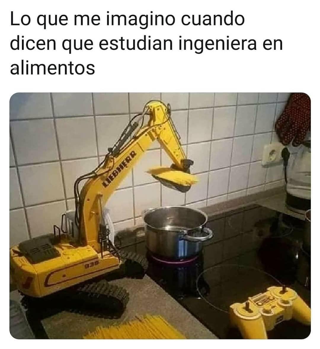 Lo que me imagino cuando dicen que estudian Ingeniería en Alimentos.