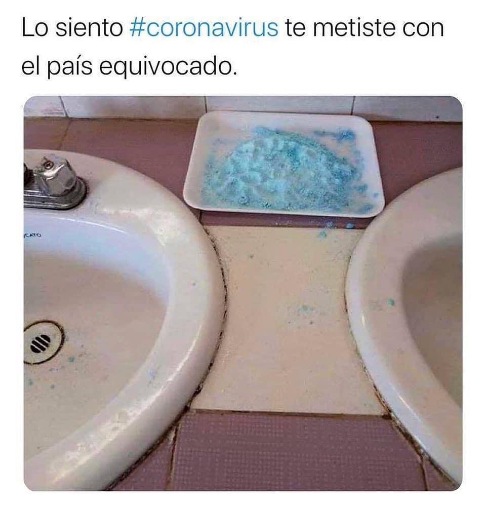 Lo siento #coronavirus te metiste con el país equivocado.