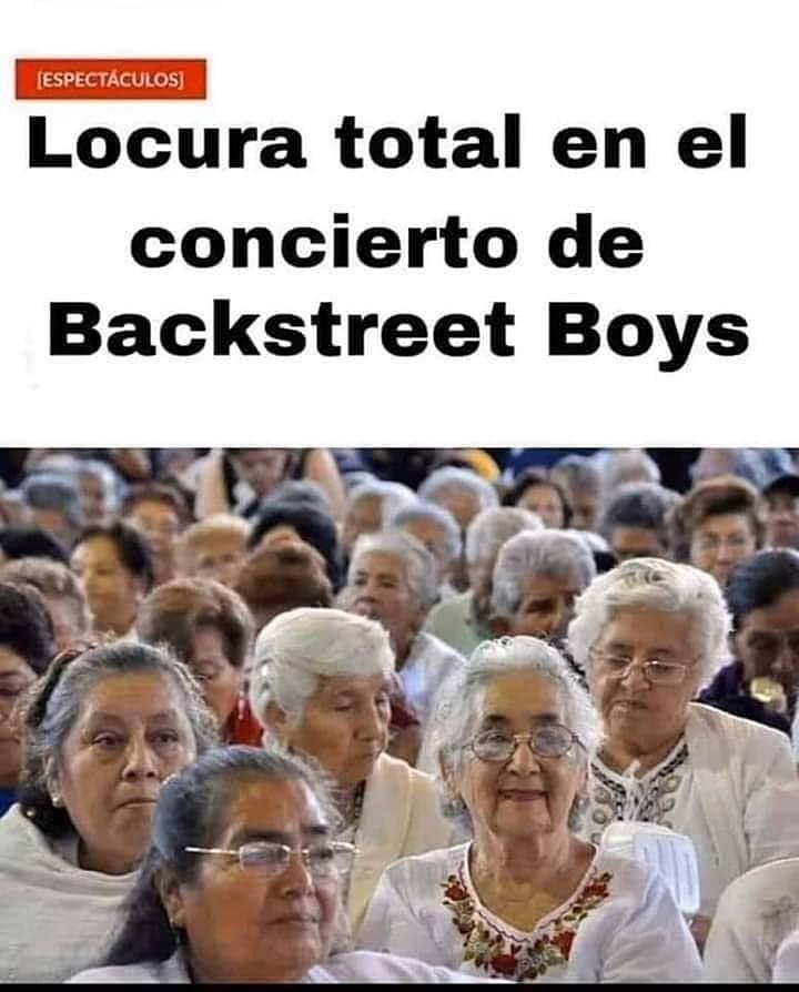 Locura total en el concierto de Backstreet Boys.