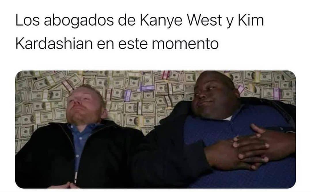 Los abogados de Kanye West y Kim Kardashian en este momento.