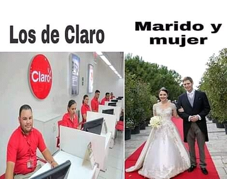 Los de Claro Marido y mujer.