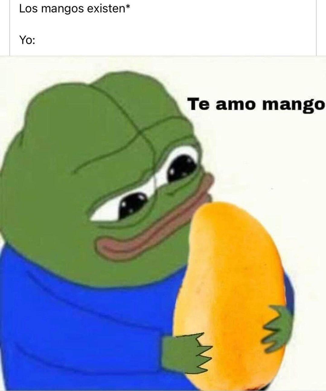 Los mangos existen*  Yo: Te amo mango.
