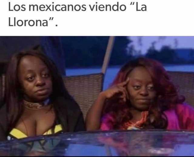 """Los mexicanos viendo """"La Llorona""""."""
