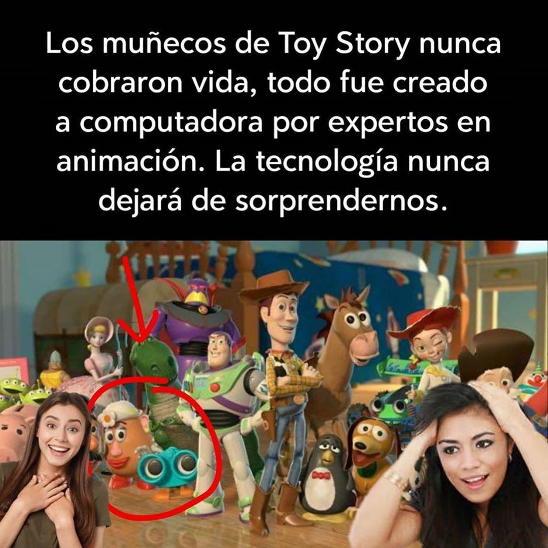 Los muñecos de Toy Story nunca cobraron vida, todo fue creado a computadora por expertos en animación. La tecnología nunca dejará de sorprendernos.