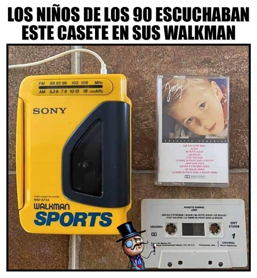 Los niños de los 90 escuchaban este casete en sus Walkman.
