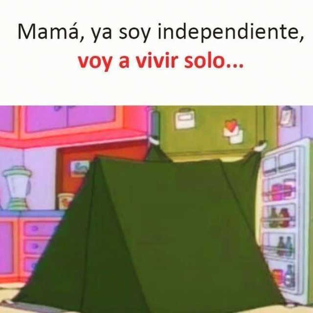 Mamá, ya soy independiente, voy a vivir solo...