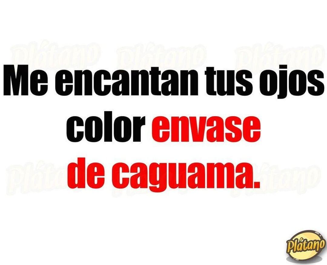 Me encantan tus ojos color envase de caguama.