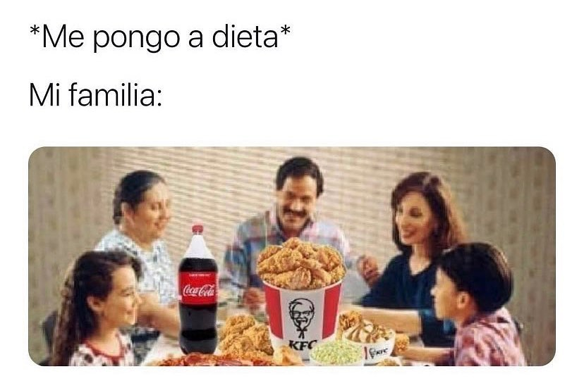 *Me pongo a dieta* Mi familia: