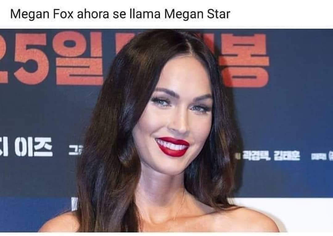 Megan Fox ahora se llama Megan Star.