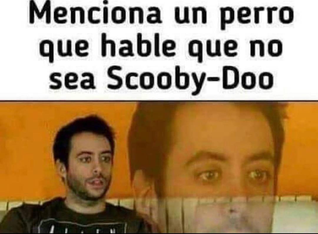 Menciona un perro que hable que no sea Scooby-Doo.