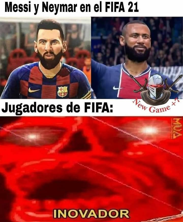 Messi y Neymar en el FIFA 21.  Jugadores de FIFA: Inovador.
