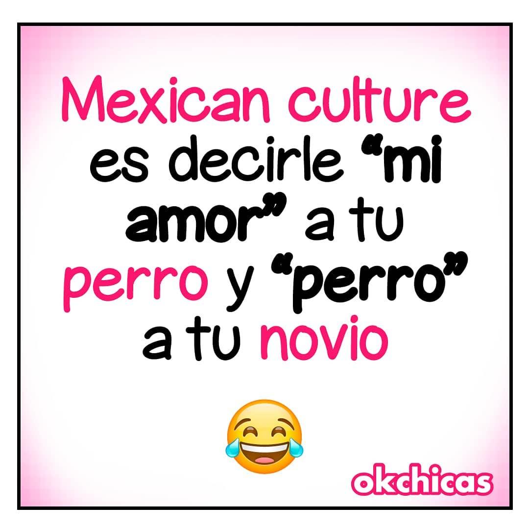 """Mexican culture es decirle """"mi amor"""" a tu perro y """"perro"""" a tu novio."""