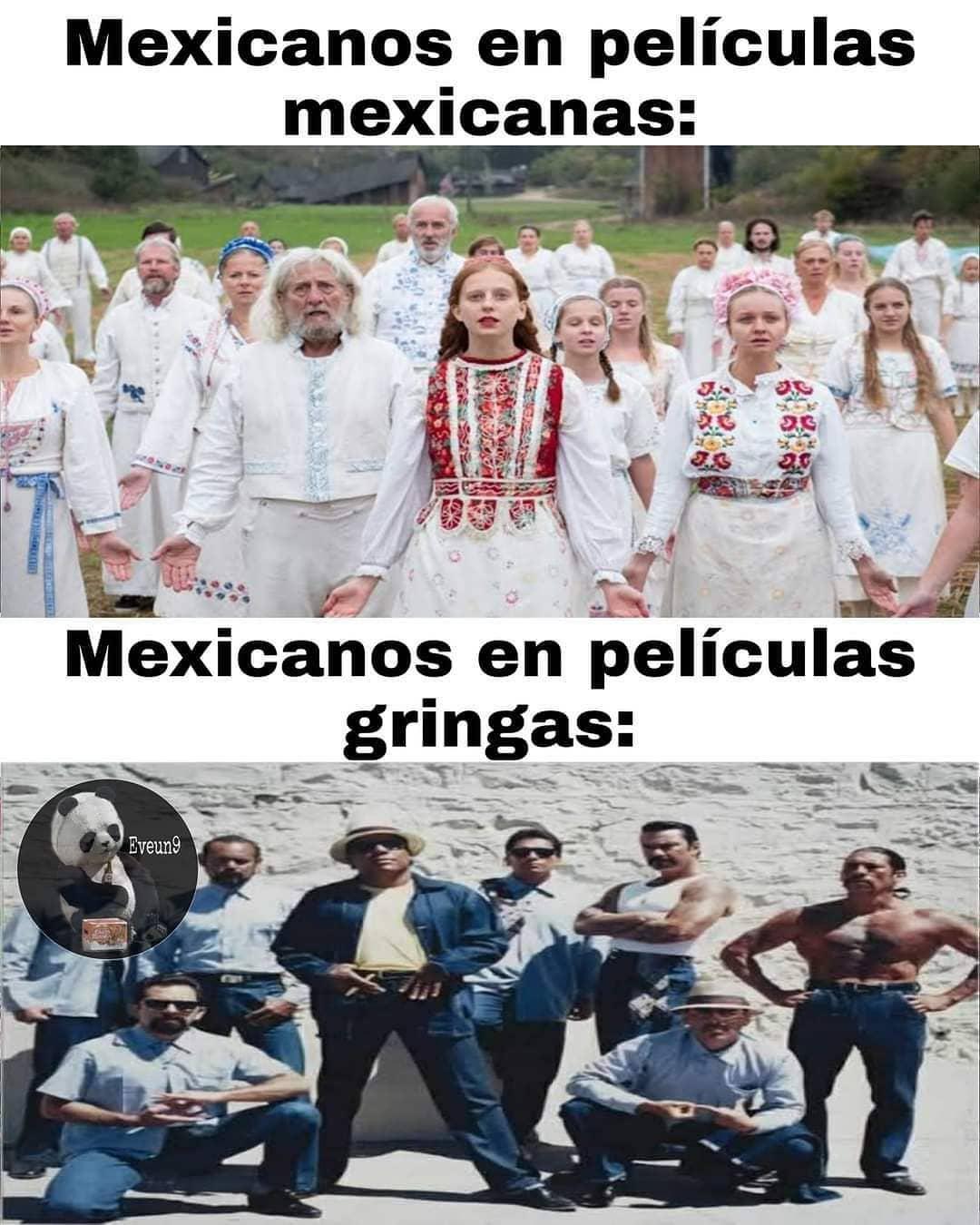 Mexicanos en películas mexicanas:  Mexicanos en películas gringas: