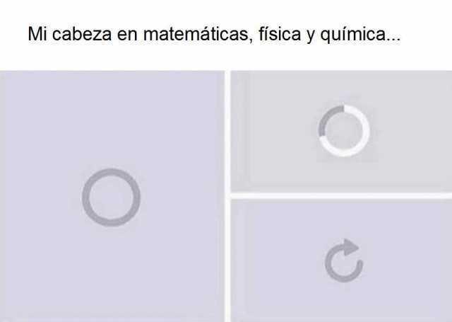 Mi cabeza en matemáticas, física y química...