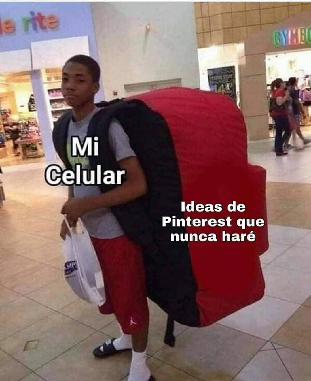 Mi celular. Ideas de Pinterest que nunca haré.
