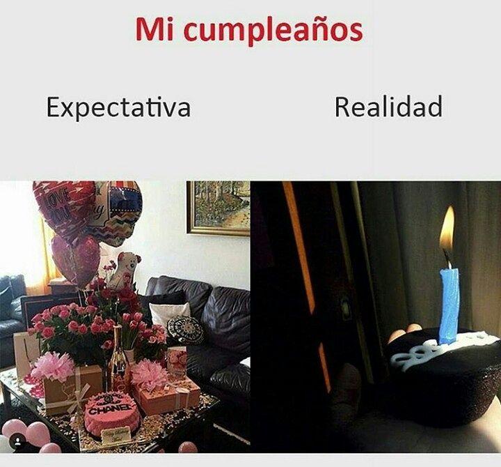 Mi cumpleaños  Expectativa / Realidad