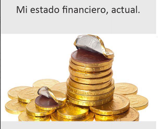 Mi estado financiero actual.