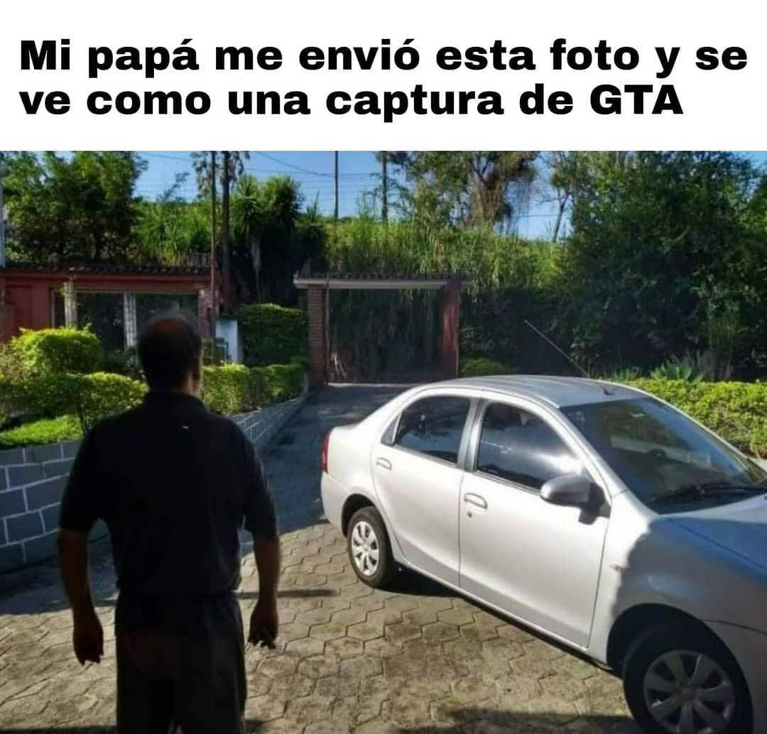 Mi papá me envió esta foto y se ve como una captura de GTA.