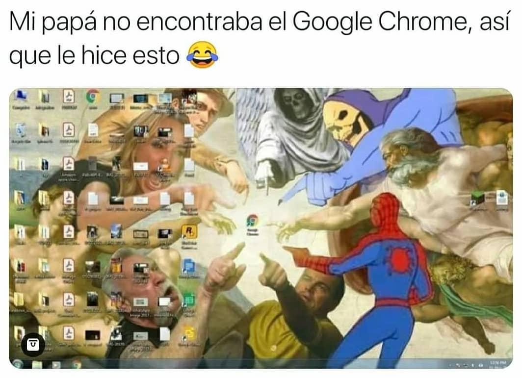 Mi papá no encontraba el Google Chrome, así que le hice esto.