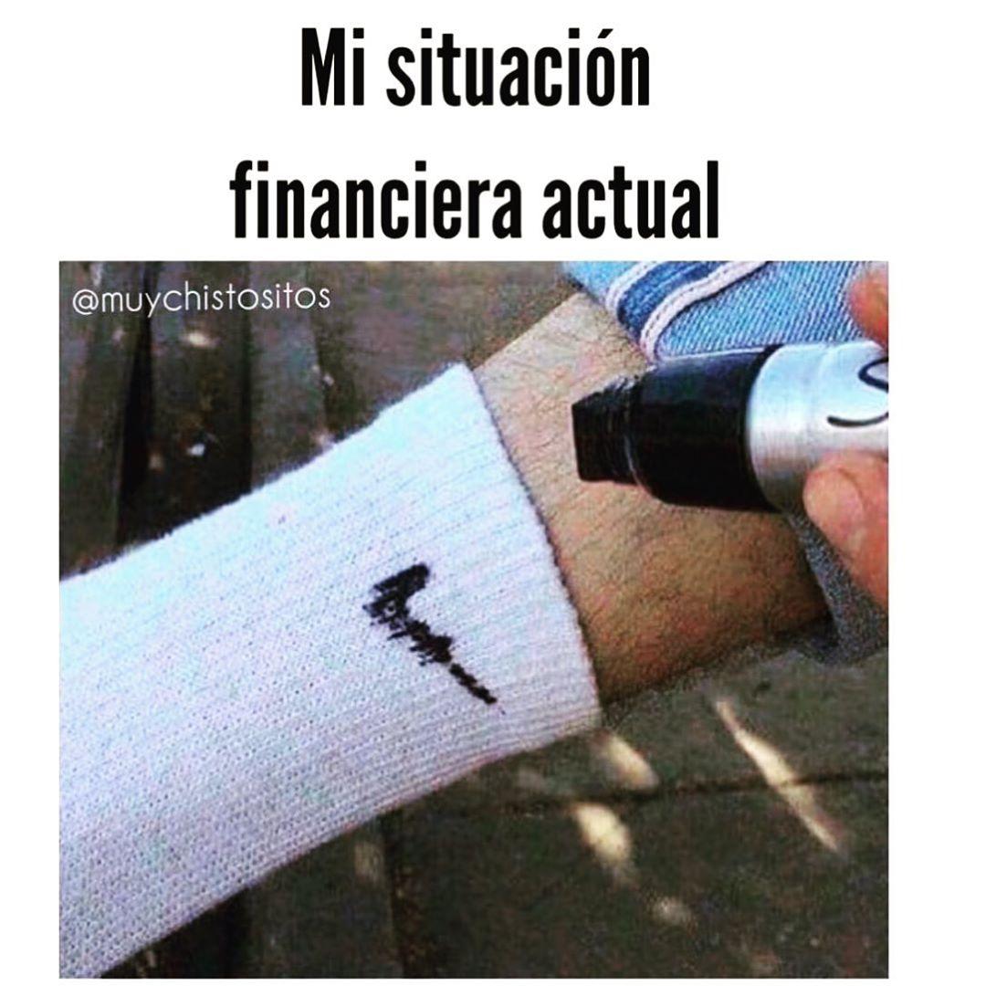 Mi situación financiera actual.
