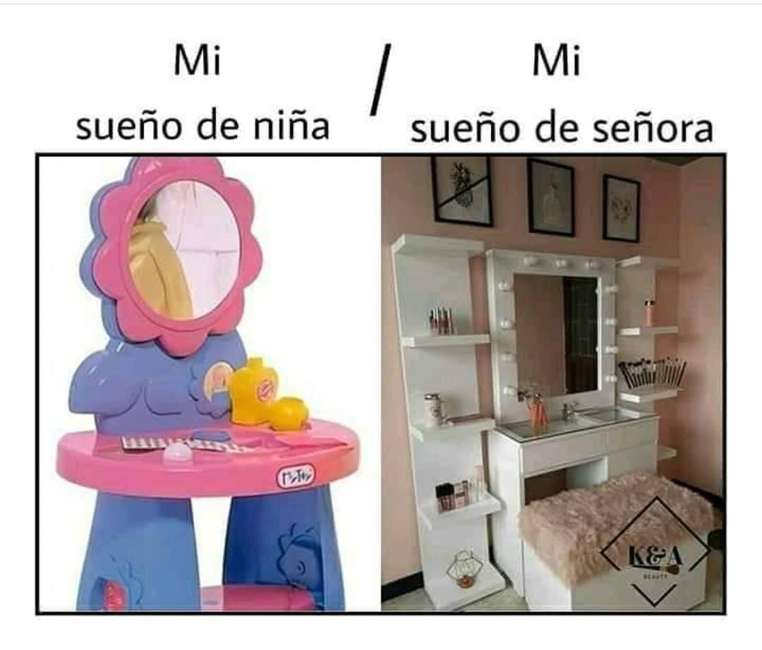 Mi sueño de niña. / Mi sueño de señora.