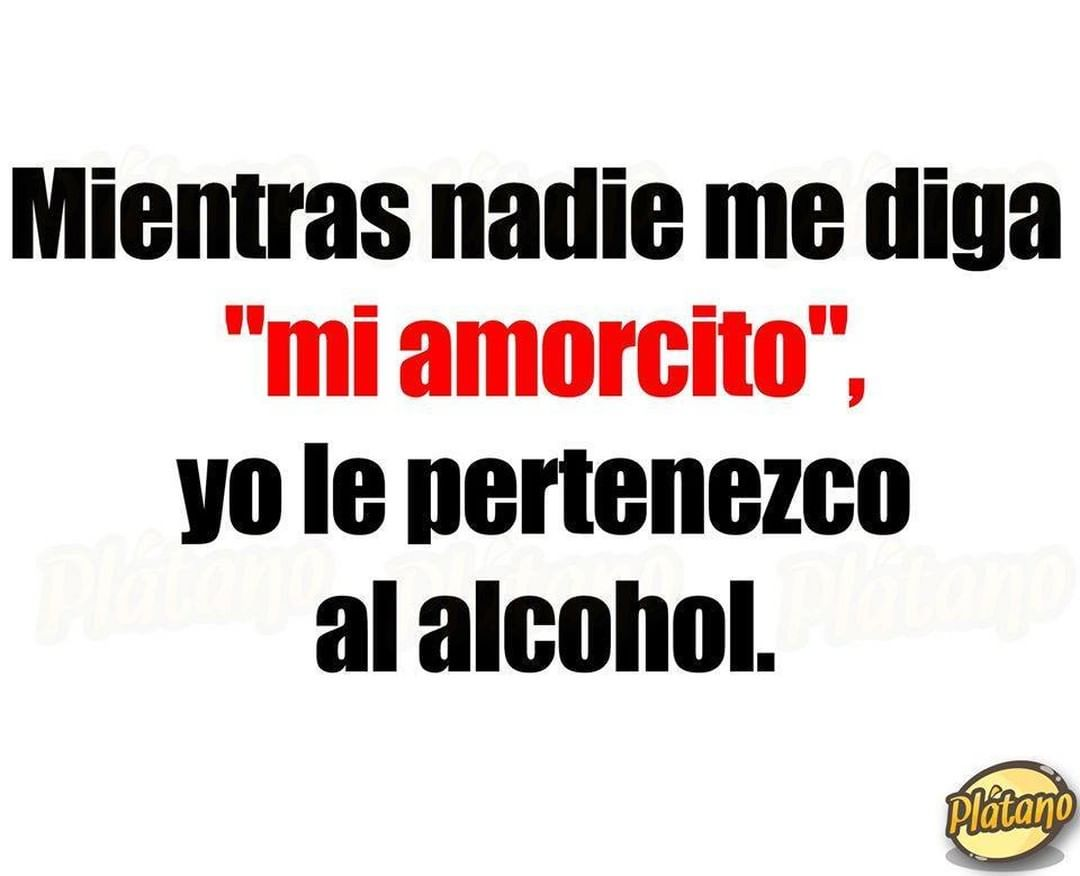 """Mientras nadie me diga """"mi amorcito"""", yo le pertenezco al alcohol."""