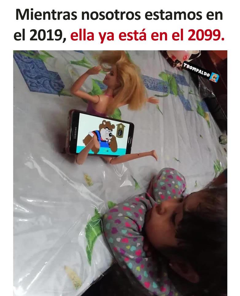 Mientras nosotros estamos en el 2019, ella ya está en el 2099.