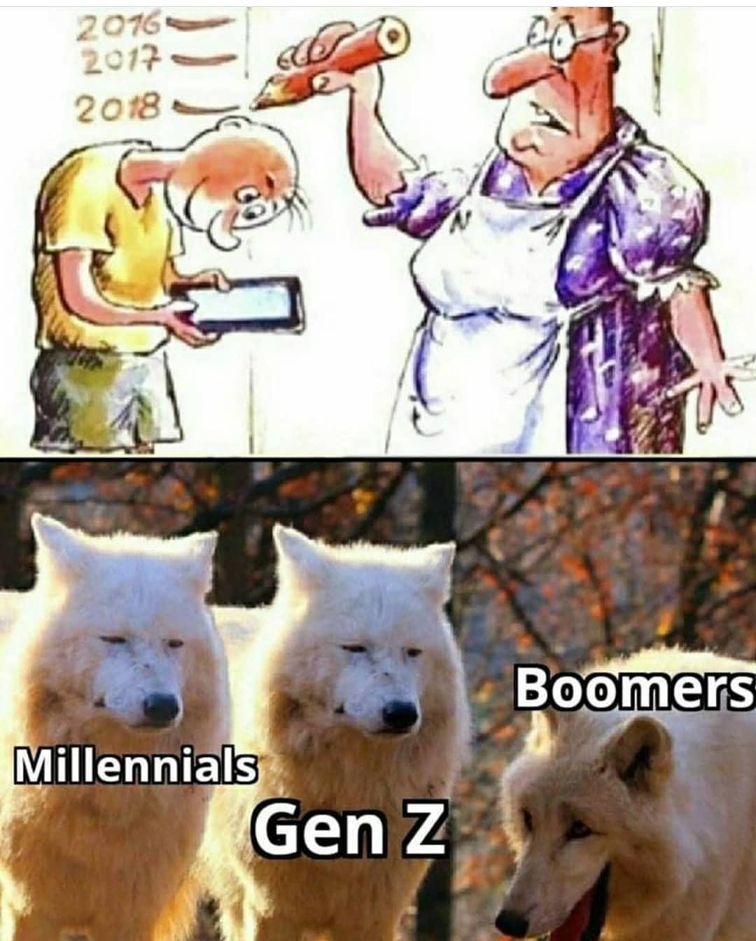 Millennials. Gen Z. Boomers.