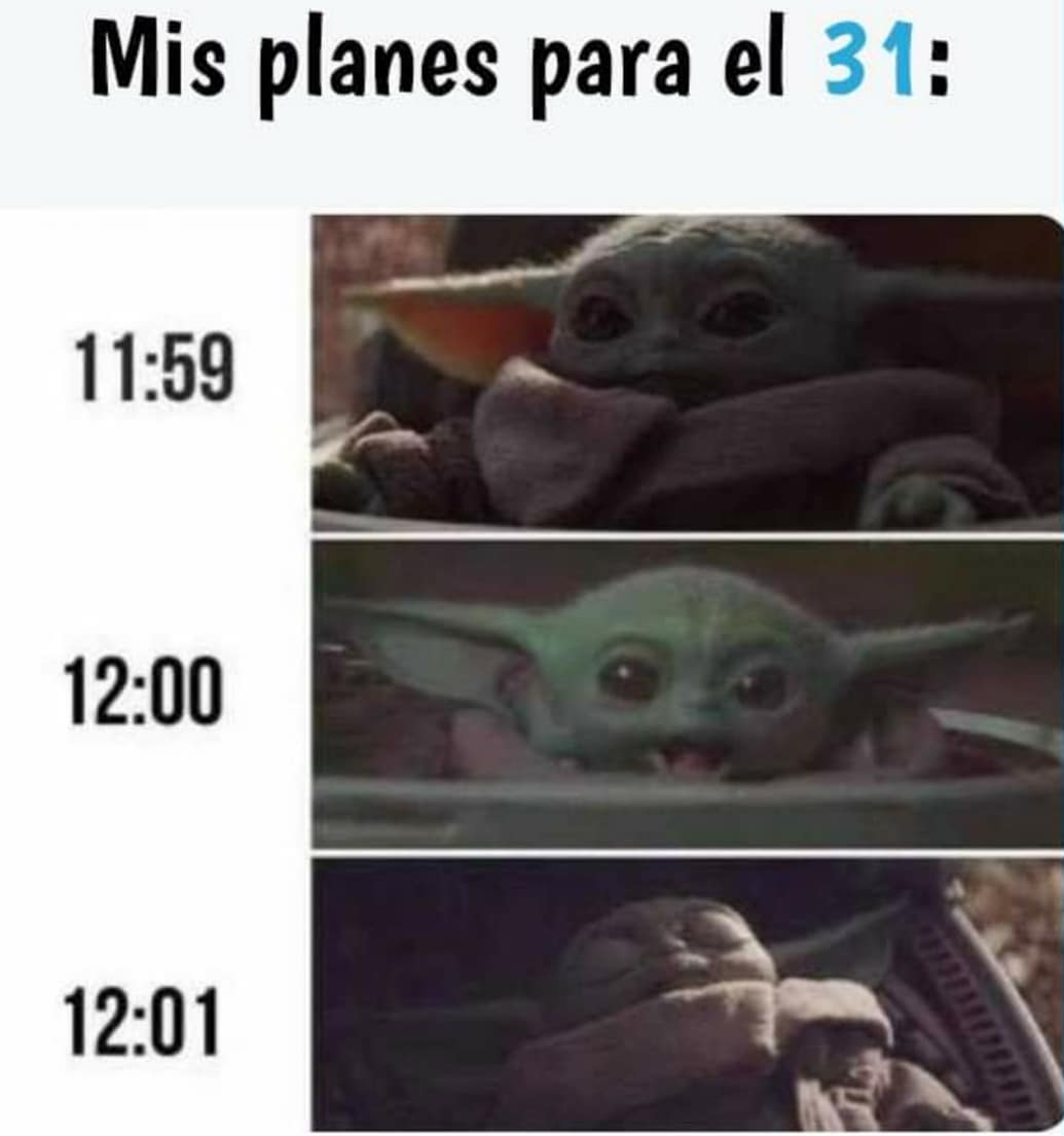 Mis planes para el 31: 11:59 12:00 12:01
