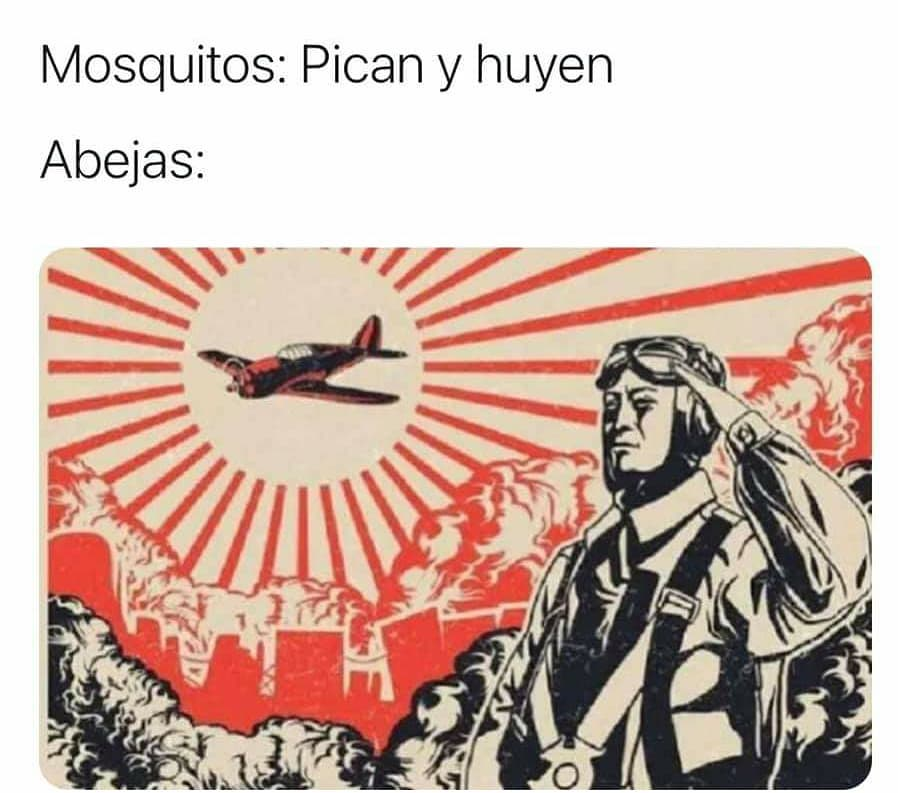 Mosquitos: Pican y huyen.  Abejas: