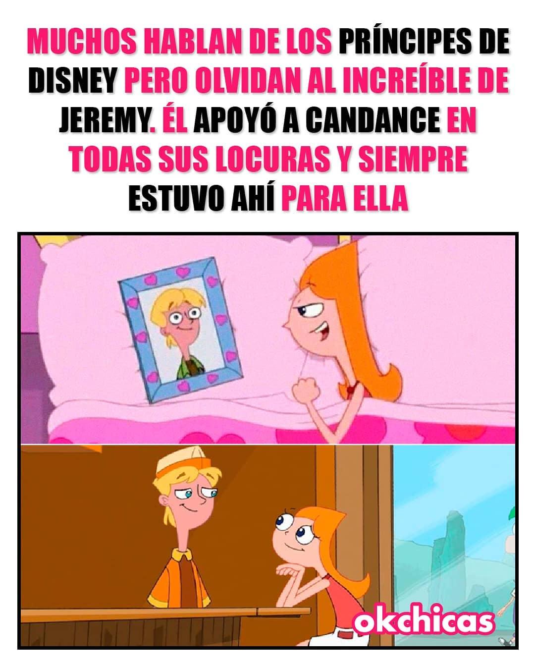 Muchos hablan de los príncipes de Disney pero olvidan al increíble de Jeremy. Él apoyó a Candance en todas sus locuras y siempre estuvo ahí para ella.
