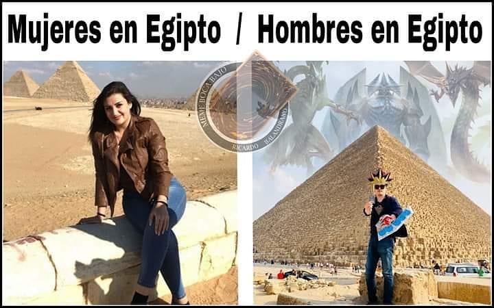 Mujeres en Egipto. / Hombres en Egipto.