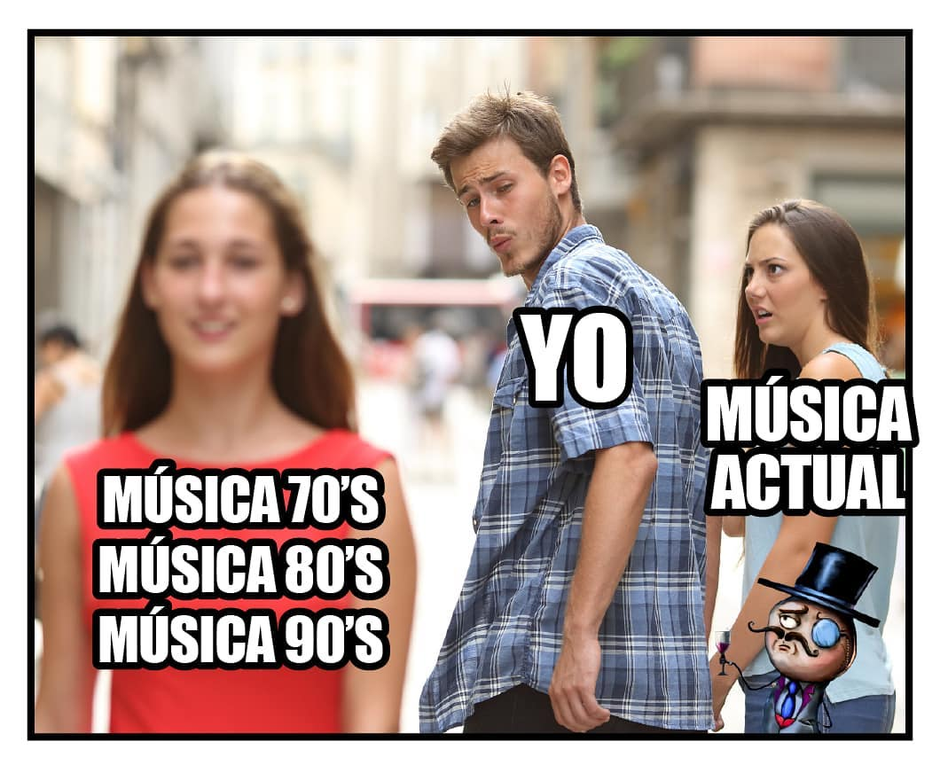 Música 70's, Música 80's, Música 90's. Yo. Música actual.