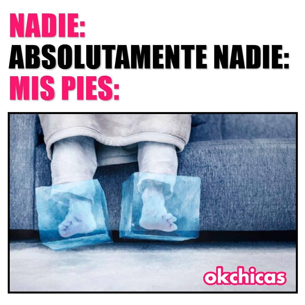 Nadie:  Absolutamente nadie:  Mis pies: