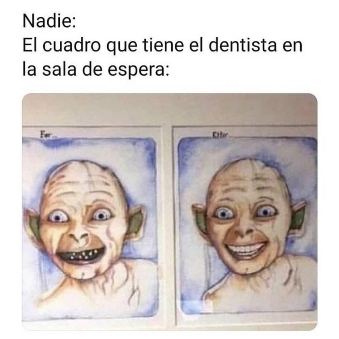 Nadie: El cuadro que tiene el dentista en la sala de espera:
