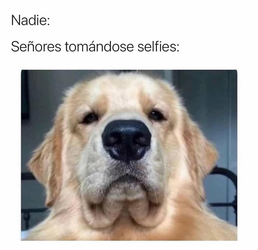 Nadie:  Señores tomándose selfies: