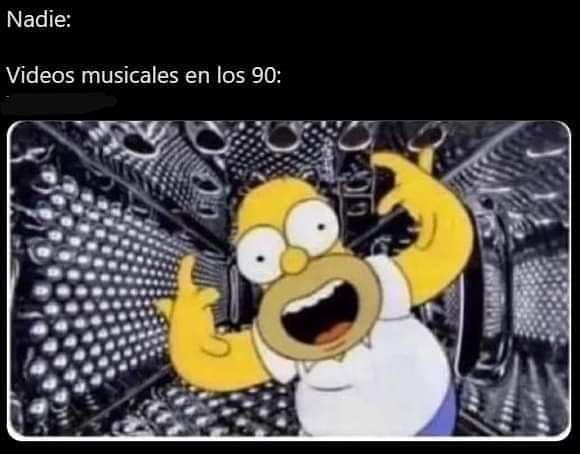 Nadie: Videos musicales en los 90: