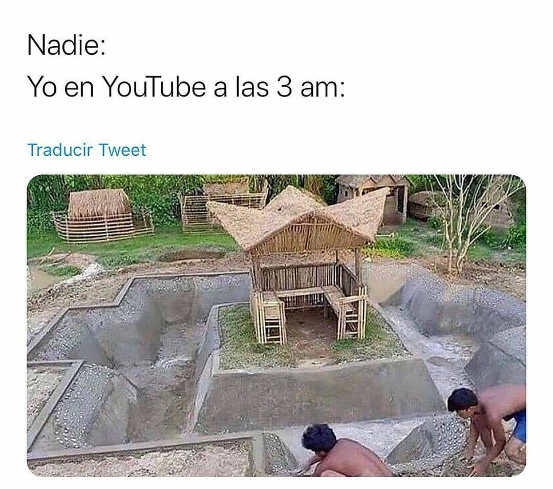 Nadie:  Yo en YouTube a las 3 am.