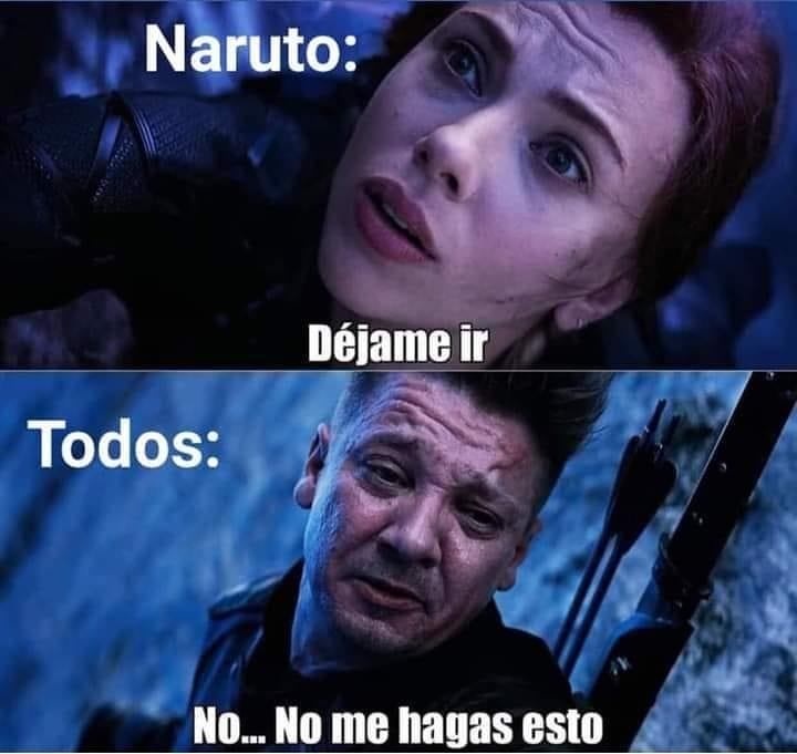 Naruto: Déjame ir.  Todos: No... No me hagas esto.