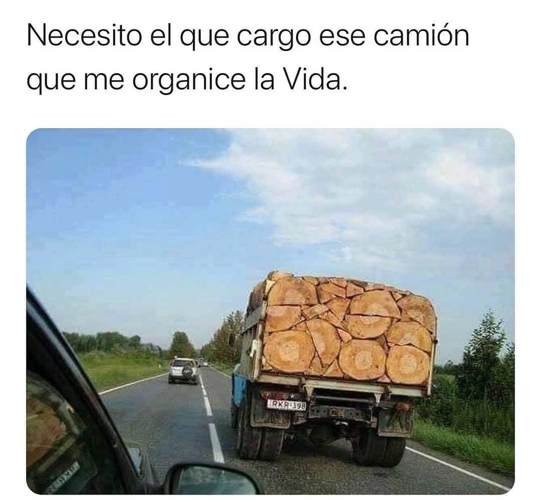 Necesito el que cargo ese camión que me organice la Vida.