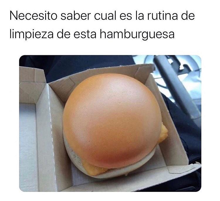 Necesito saber cual es la rutina de limpieza de esta hamburguesa.