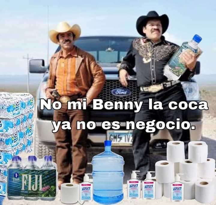 No mi Benny la coca ya no es negocio.