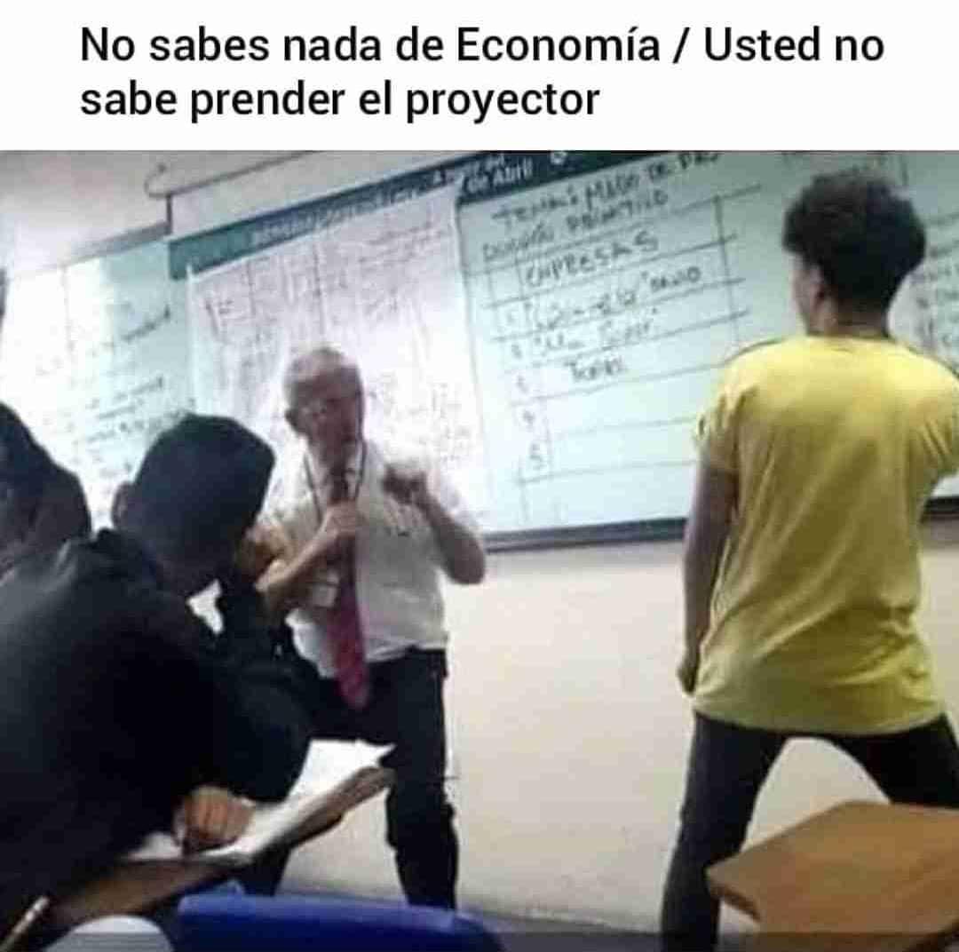 No sabes nada de Economía. / Usted no sabe prender el proyector.