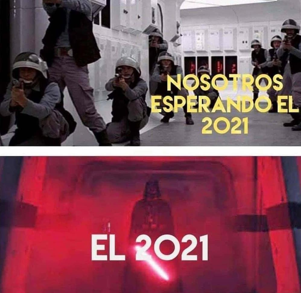 Nosotros esperando el 2021.  El 2021.